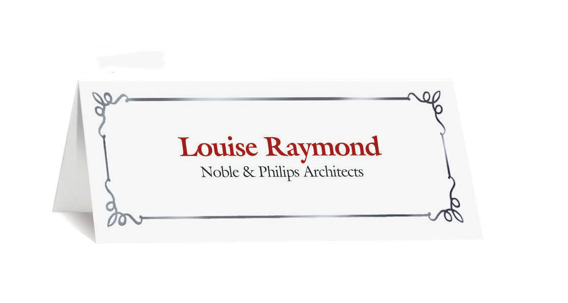 St. James® Overtures® Embassy Place Cards, White, Silver Foil, Pack of 60