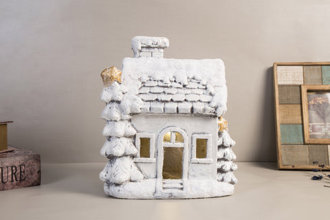 Enchanteur Cottage With LED Lights - Height 35cm