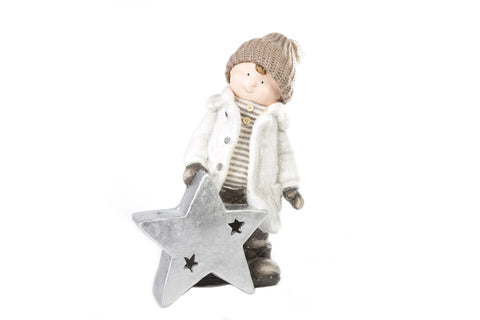 Enchanteur Boy George With Star LED Light - Height 43cm