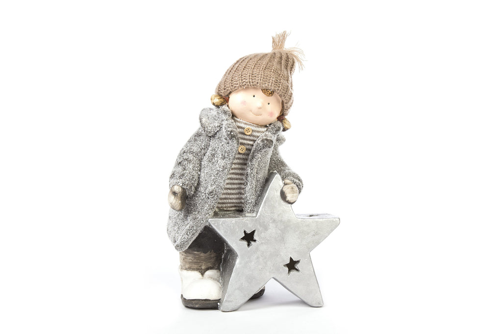 Christams Decor Girl Lucy With Star LED Light