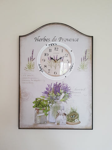 Herbes de Provence Country Wall Clock-Height 50cm