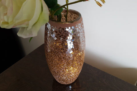 Mosaic Bullet Vase Height 23cm Mink