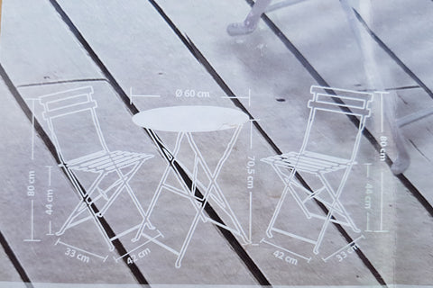 Metal Patio Table And Chair Set Grey