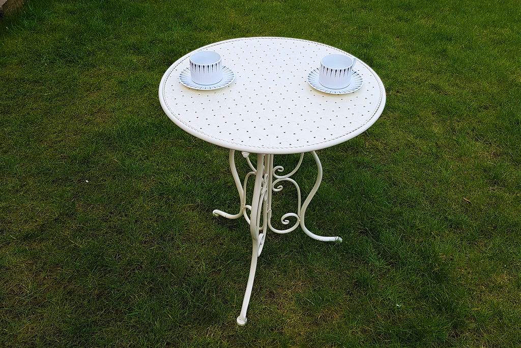 Chester Cream Metal Patio Set
