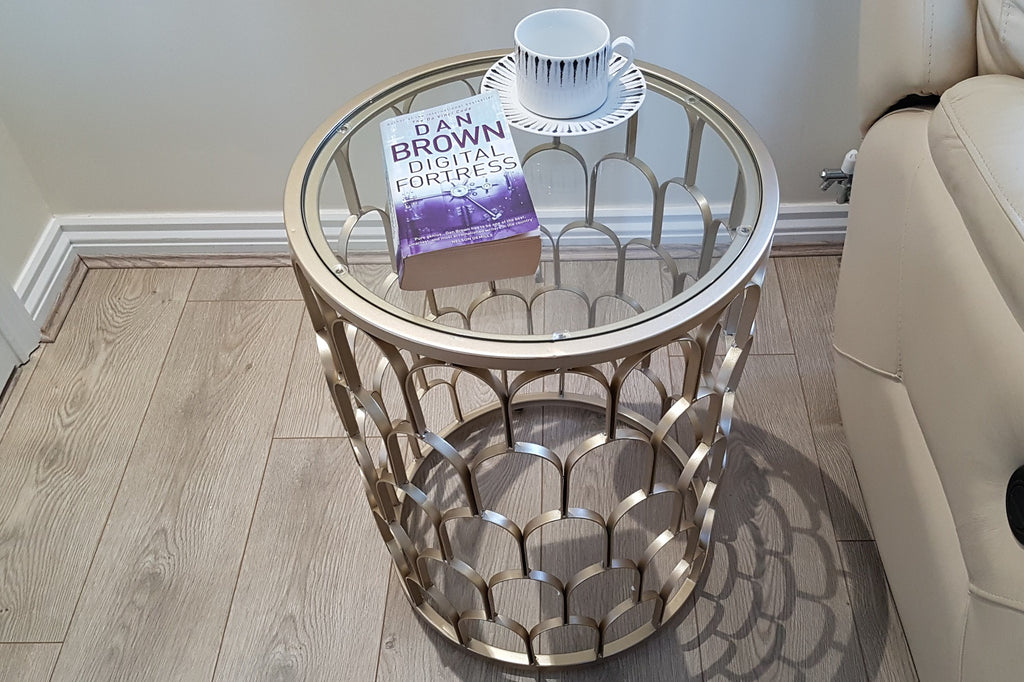 Brixton Metal And Glass Side Table