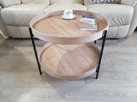 Scandi 2 Tier Round Coffee Table