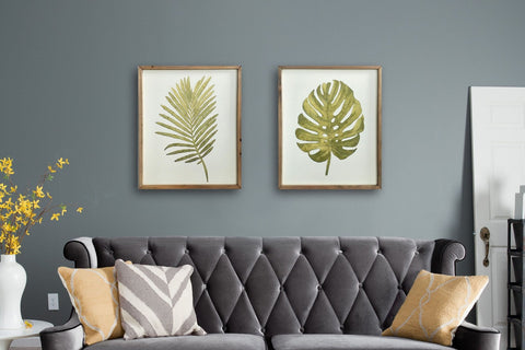 Botanica Green Palm Leaf Framed Art Print-48cm x 39.5cm