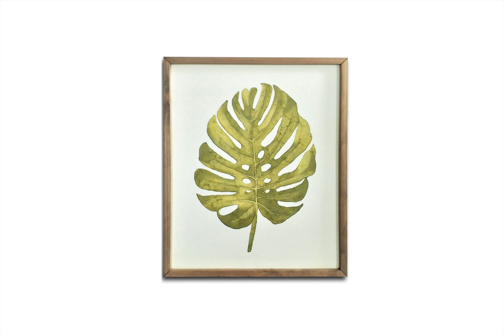 Botanica Green Palm Leaf Framed Art Print