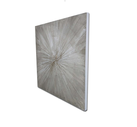 Starburst Abstract Art Canvas Print-80cm x 80cm
