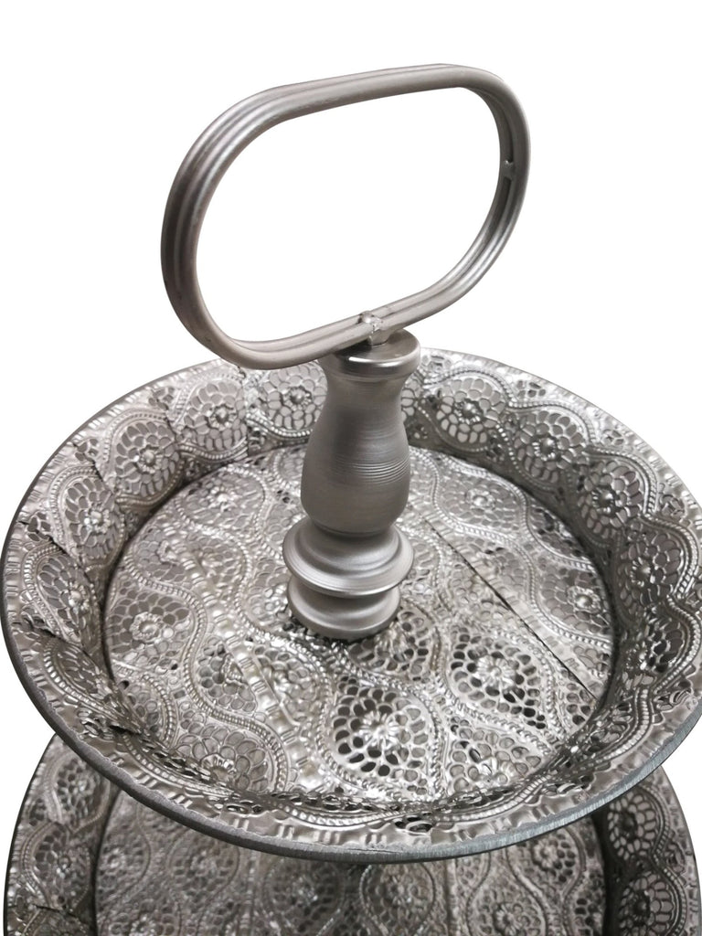 Moroccan 3 Tier Silver Display Stand