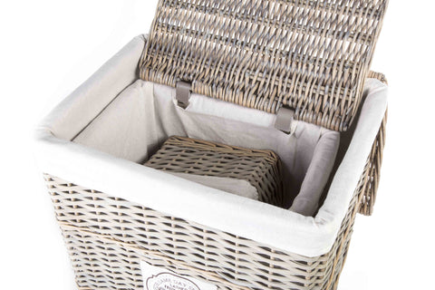 Neat and Tidy Natural Wicker Laundry Baskets And Storage Baskets Set of 5