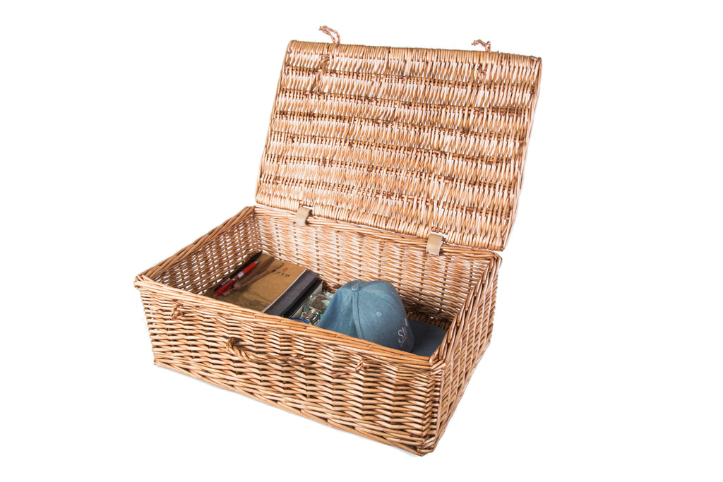 Medium Tradtional Wicker Gift Hamper Basket-46cm x 34xm x 17cm