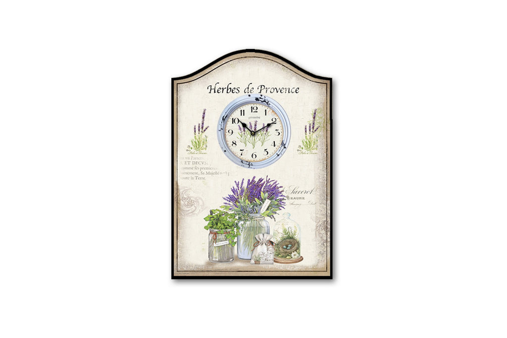 Herbes de Provence Country Wall Clock