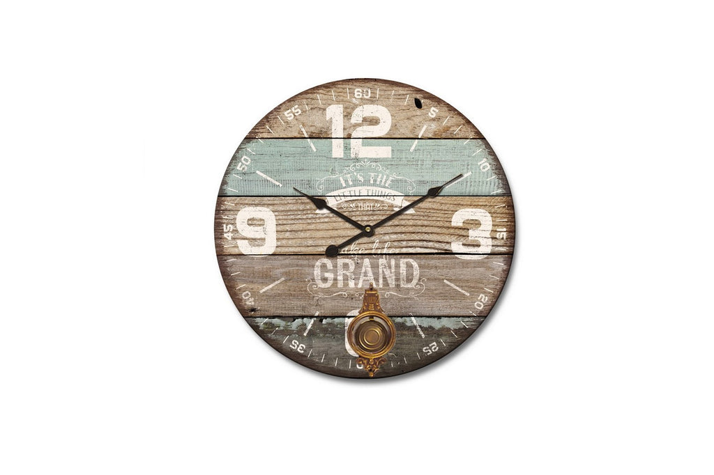 The Grand Distressed Wood Wall Clock