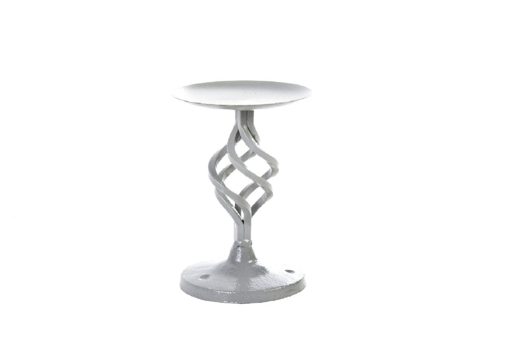 Ashworth Grey Twisted Metal Candle Holder - Height 20cm