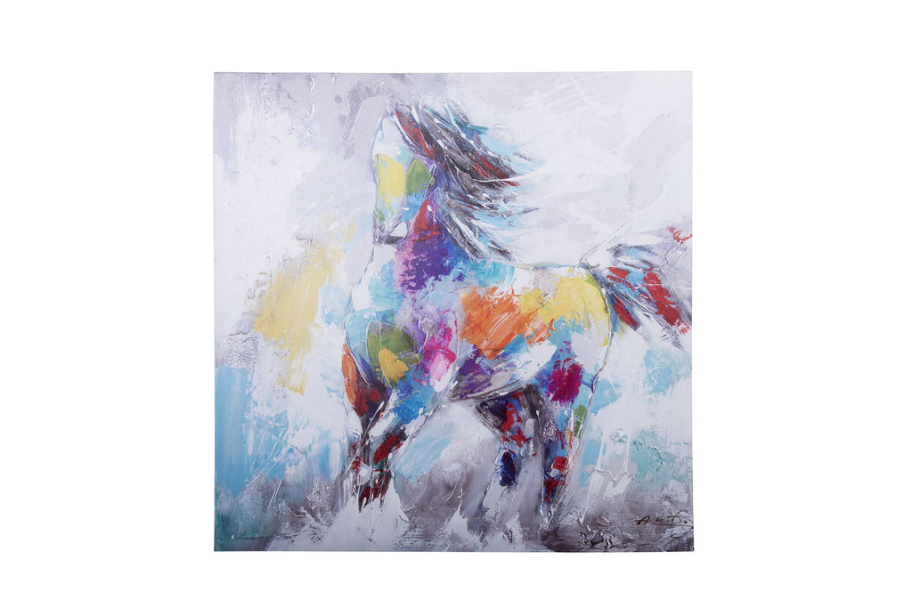 Canvas Running Horse Graphic Art