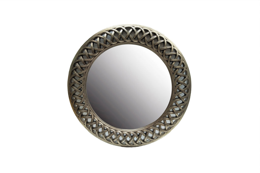 Classic Large Round Lattice Cut Out Wall Mirror
