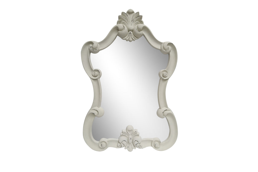 Vintage Elegant Large Portrait Light Grey Wall Mirror - Height 112cm