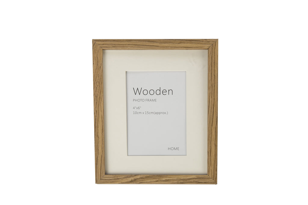 Oak Effect Natural Wooden Photo Frame 6 x 4""