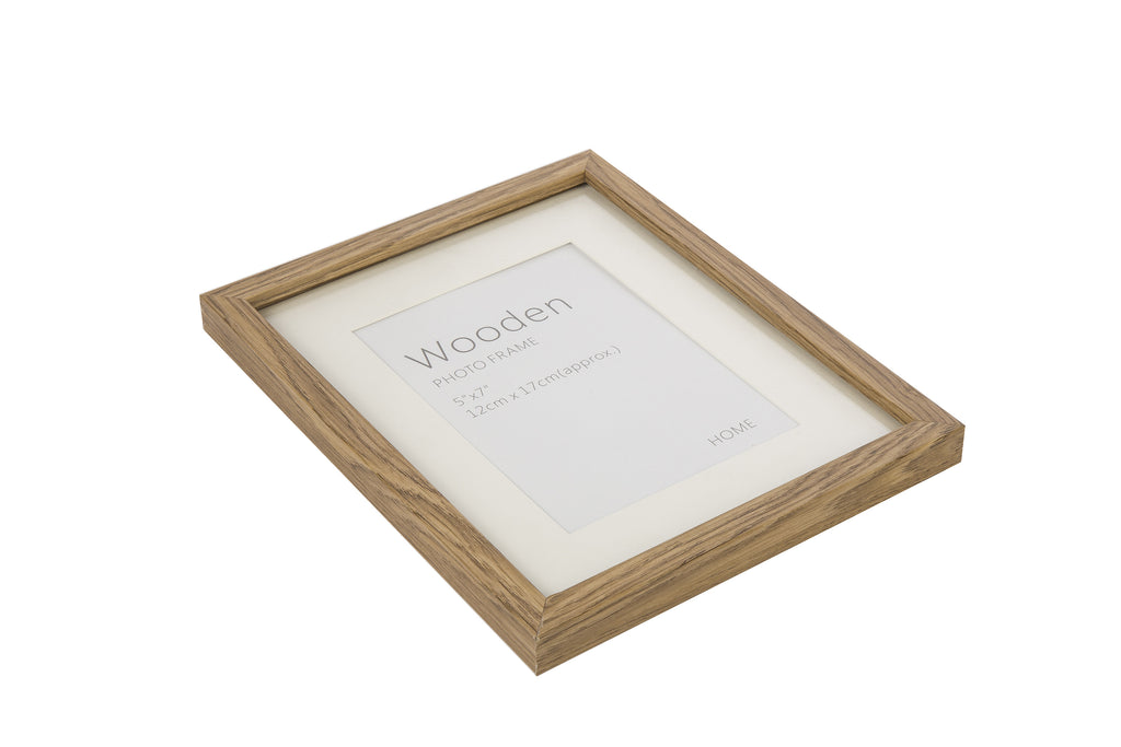 Oak Effect Natural Wooden Photo Frame 7 x 5""