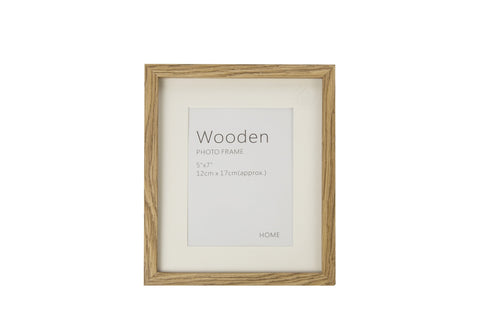 Oak Effect Natural Wooden Photo Frame 7 x 5 Inches