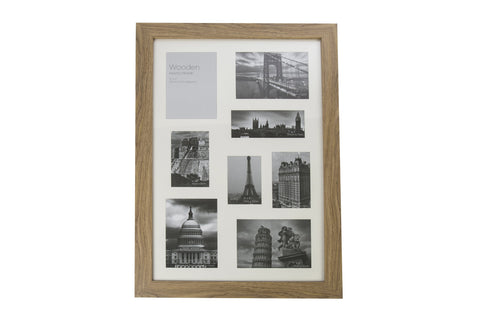 Oak Effect Natural Wooden Photo Frame 8 Aperture