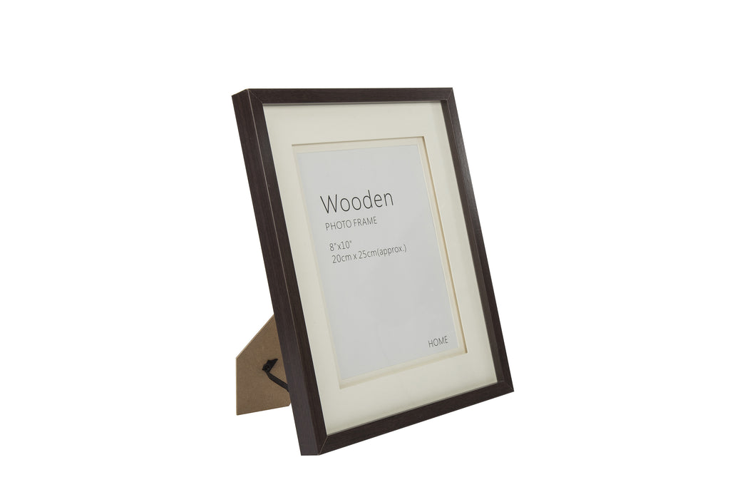 Dark Brown Wooden Photo Frame 10 x 8 Inches