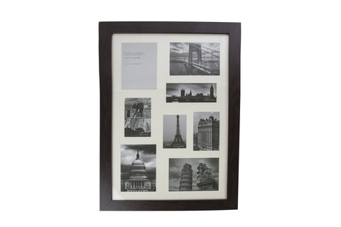 Dark Brown Wooden Photo Frame 8 Aperture