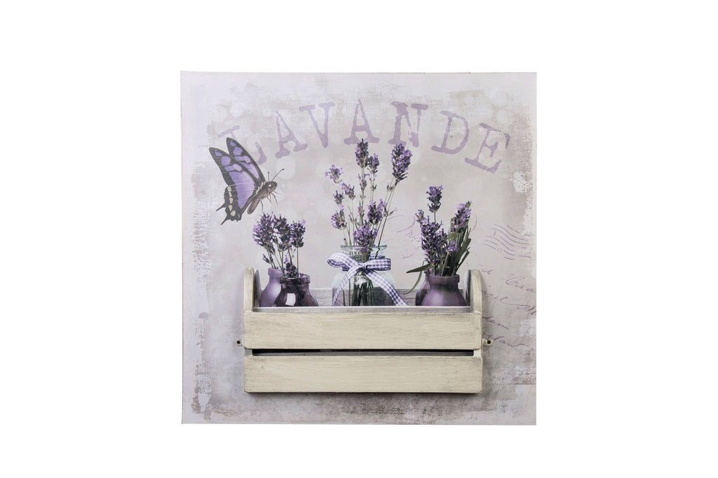 3D Canvas Art Vintage Lavender In Bottles