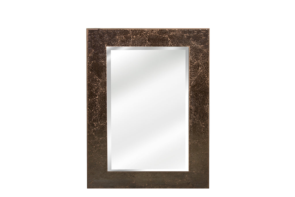 Moroccan Crackled Glass Rectangular Mirror