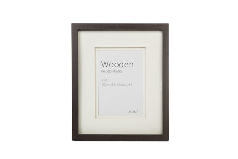 Dark Brown Wooden Photo Frame 6 x 4 Inches