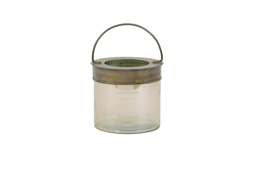 Cambas Medium Tealight Holder Smoked Glass