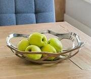 Fleur Nickel Fruit Bowl