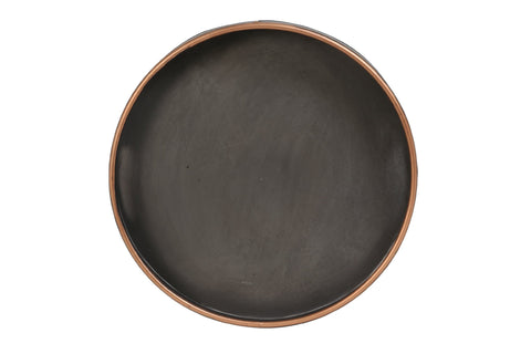 Floro Metal Tray Slate With Copper Rim - Diameter 45cm