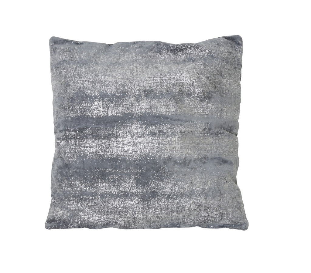 Soft Cushion Grey And Metallic Silver - 50cm x 50cm