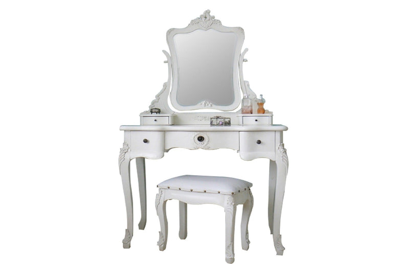 French Style Dressing Table Set white