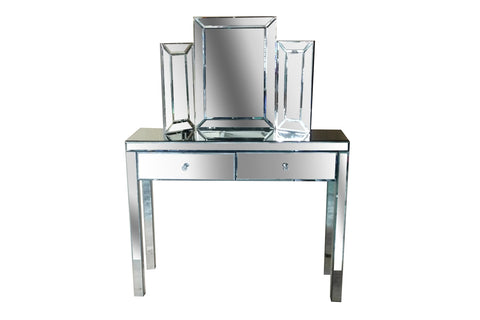 Venetian Mirrored Dressing Table Set