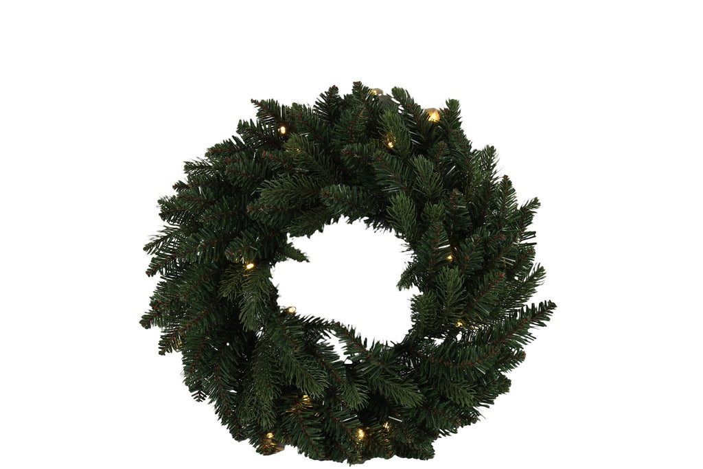 Christmas Wreath With LED Lights - Diameter 45cm