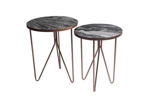 Marble Effect Side Table