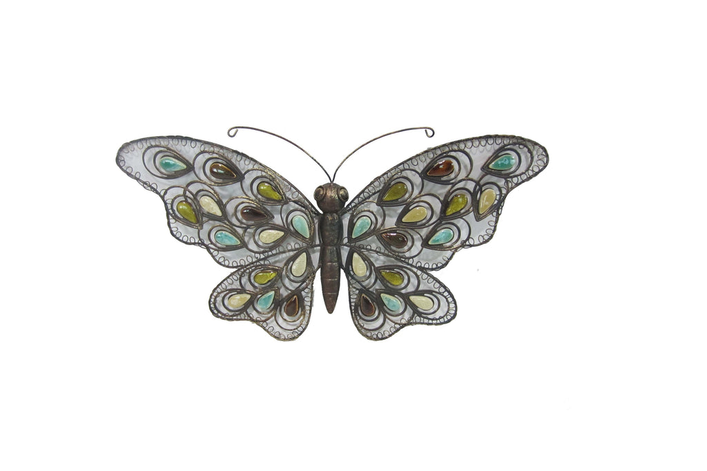 Beaded Butterfly Garden Wall Decoration