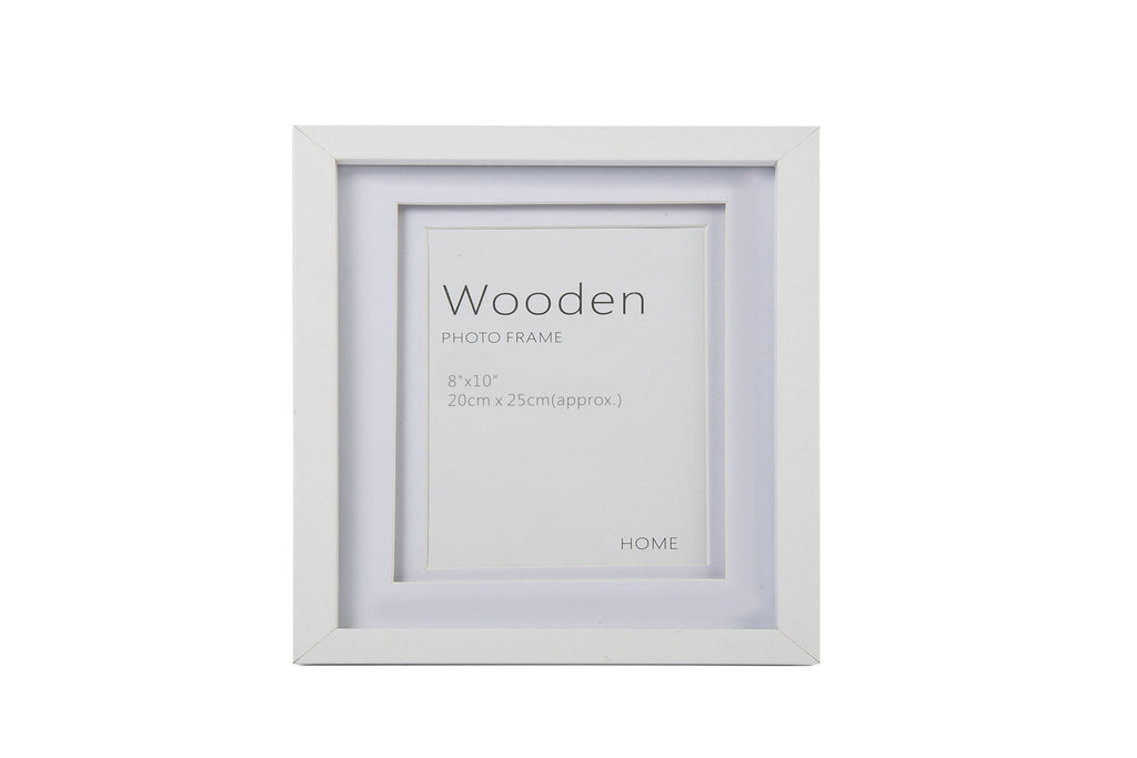 White Wooden Photo Frame 10 x 8""