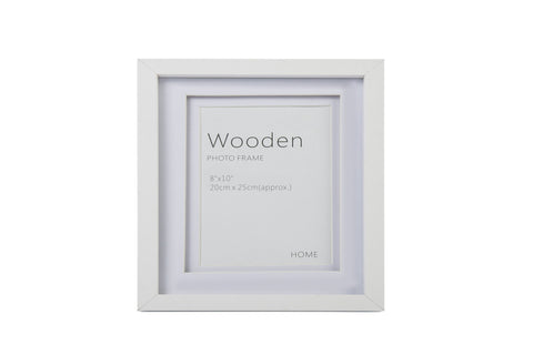 White Wooden Photo Frame 10 x 8 Inches