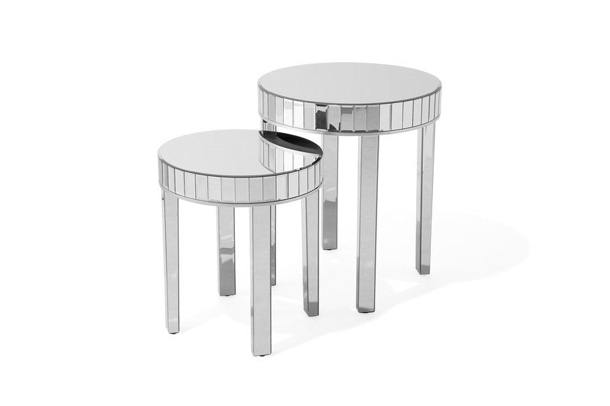 Ramano Mirrored Side Tables Set of 2