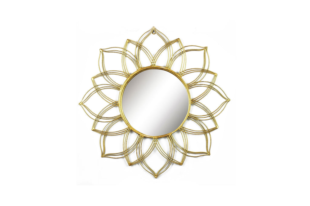 Sunburst Round Accent Mirror
