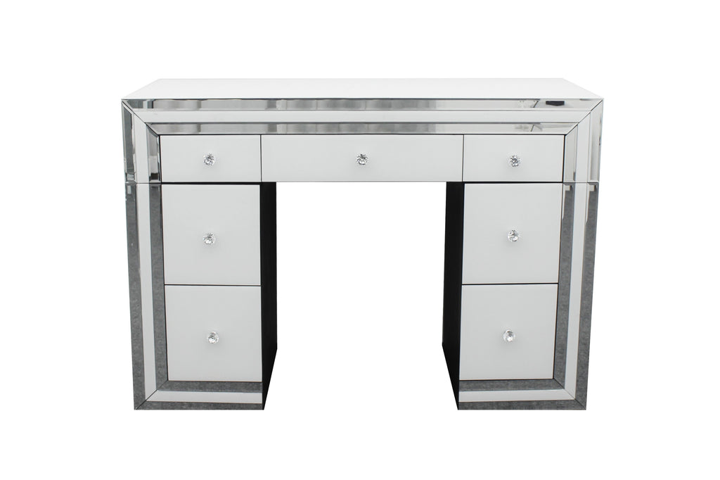 Amelia White Mirrored Dressing Room Table