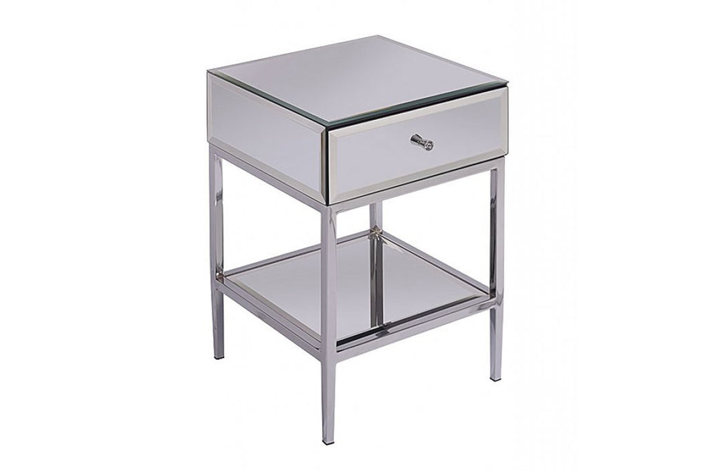Louis Mirrored Bedside Table