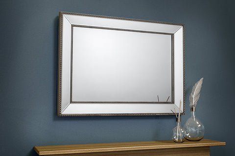 Florence Beaded Bevelled Rectangular Mirror