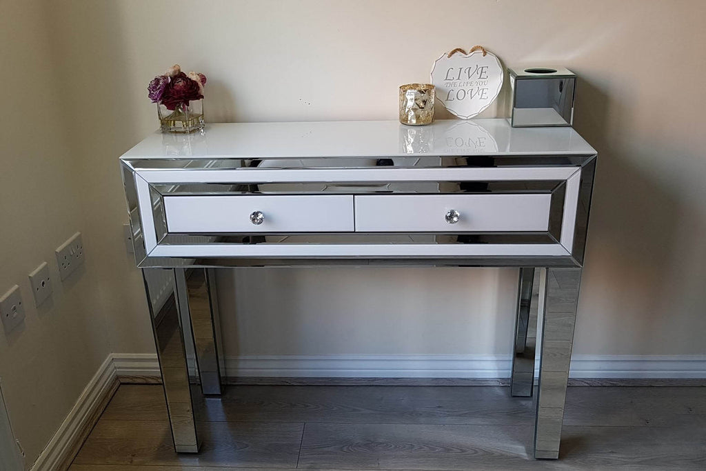 Amelia White Mirrored Dressing Table