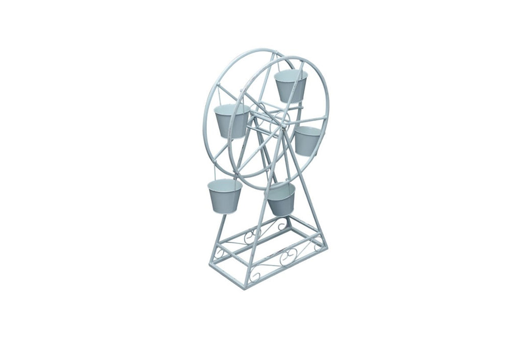 Garden Plantern Metal Ferris Wheel Planter