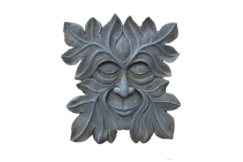 Garden Wall Art Green Man Sleeping